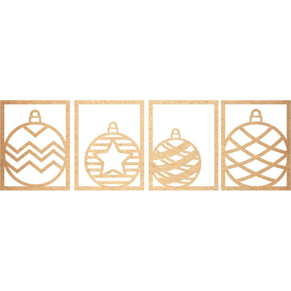 Brutus Monroe Laser Cuts - Chipboard - Christmas Ornament Panels