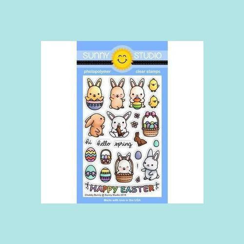 Sunny Studio Stamps - Chubby Bunny Stamp and Die