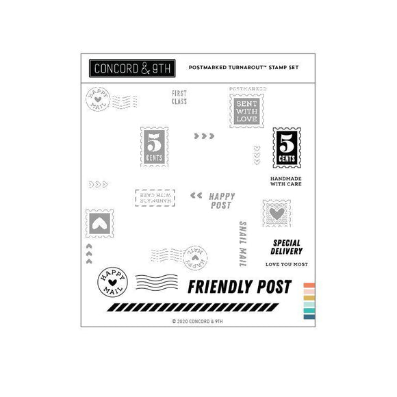 Concord & 9th - Postmarked Turnabout™ Stamp Set