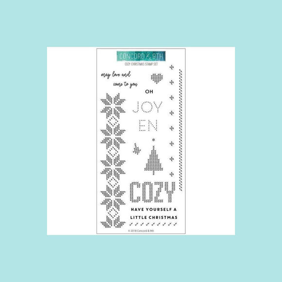 Concord & 9th COZY CHRISTMAS Stamp and Die Sets