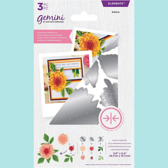 Crafter's Companion - Gemini Elements Double-Sided Flower Die - Dahlia