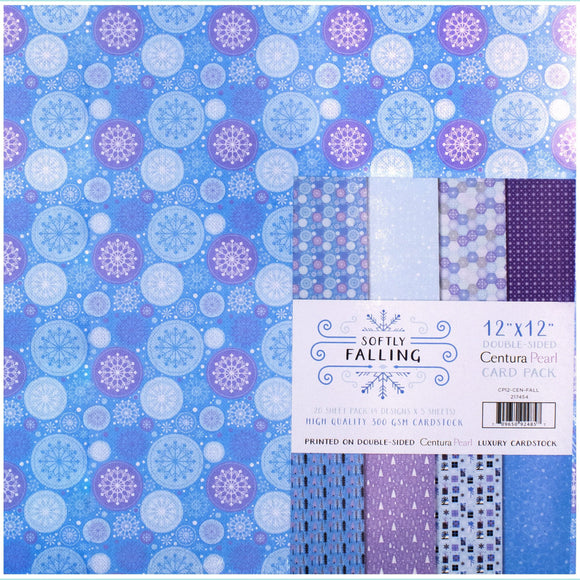 Crafter's Companion - Softly Falling - Centura Pearl Card Pack