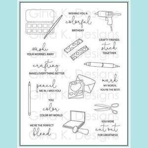 Gina K Designs - Crafty Notes Stamp Set