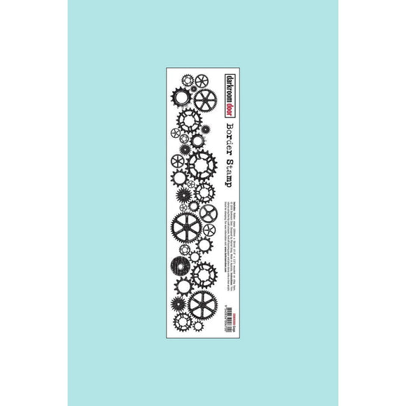 Darkroom door - Border Stamp - Cogs