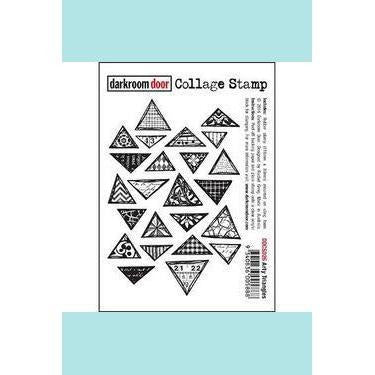 Darkroom door Collage Stamp - Arty Triangles