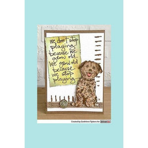 darkroom Door Eclectic Stamp - Sitting Dog