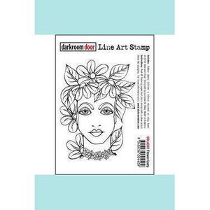 darkroom Door Line Art Stamp - Flower Lady