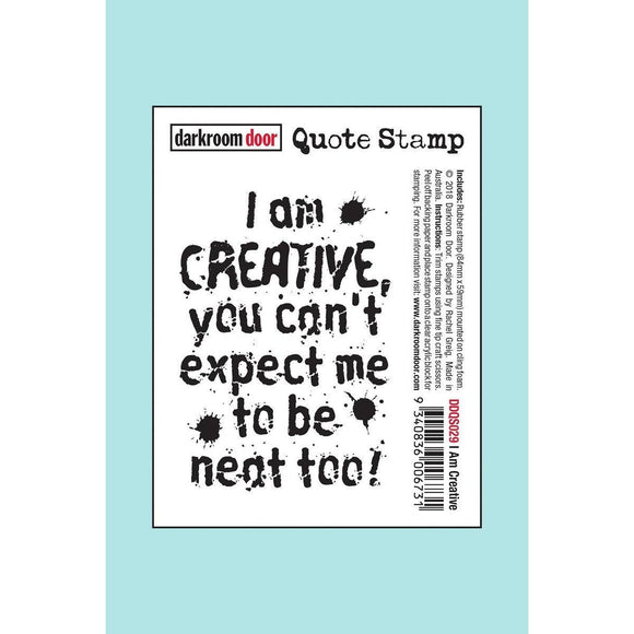 Darkroom door - Quote Stamp - I Am Creative