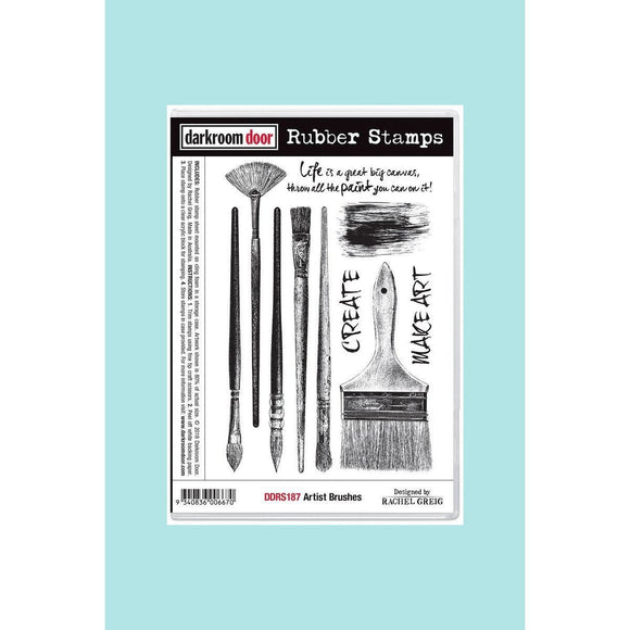 Darkroom door - Rubber Stamp Set - Artist Brushes