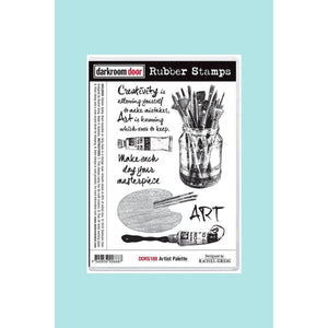 Darkroom door -  Rubber Stamp Set - Artist Palette