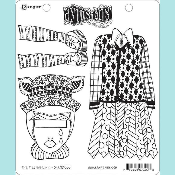 Ranger - Dyan Reaveley - Dylusions Cling Mount Stamps The Ties the Limit