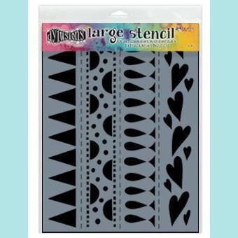 Ranger  Dyan Reaveley - Dylusions Stencils - Heart Border