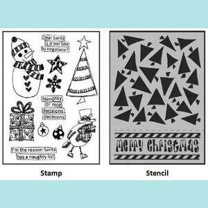 Dylusions Stamp & Stencil Set - Dear Santa