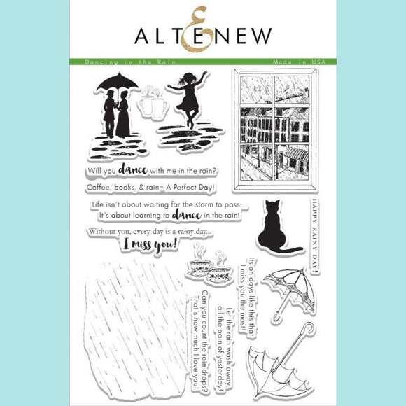 Altenew - Dancing In The Rain Stamp Set