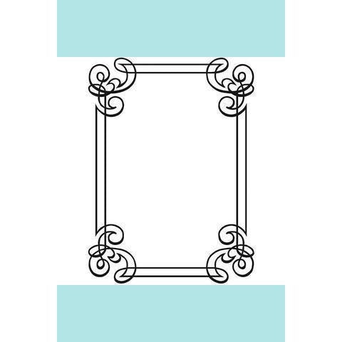 Darice® Embossing Folder - Ornate Frame - 4.5 x 5.75