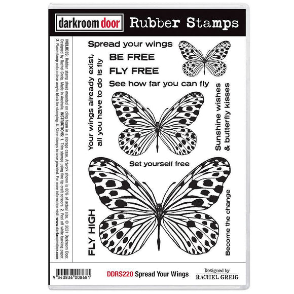 Darkroom Door - Rubber Stamp Set - Spread Your Wings