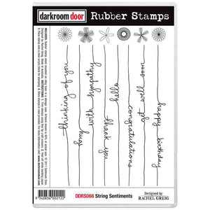 Darkroom Door - Rubber Stamp Set - String Sentiments