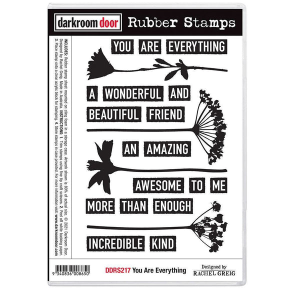 Darkroom Door - Rubber Stamp Set - You Are Everything
