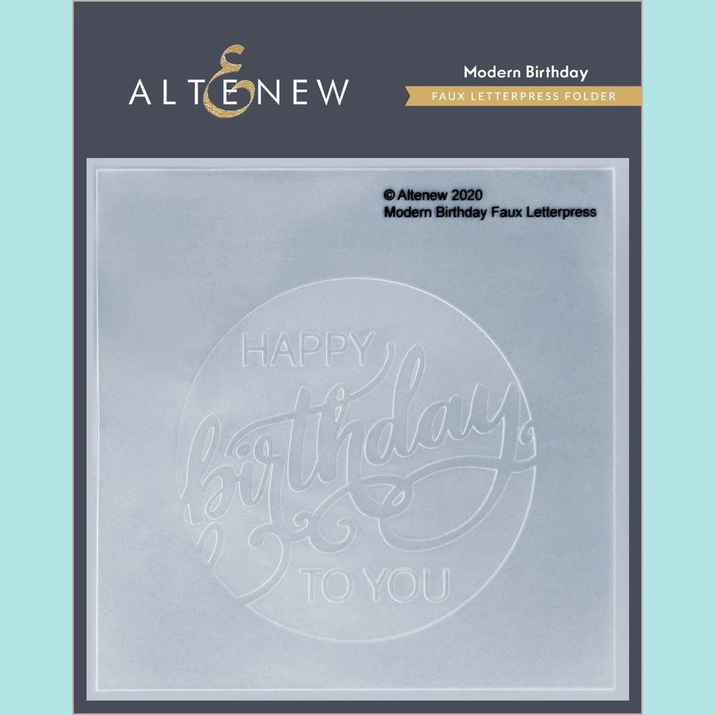 Altenew  - Modern Birthday Faux Letterpress Debossing Folder