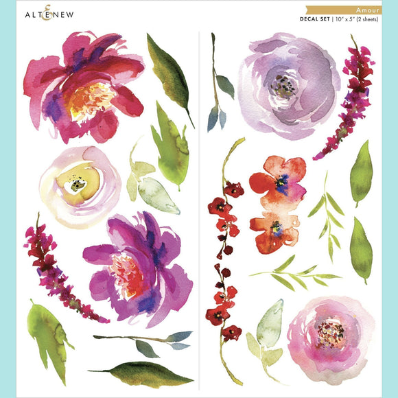 Altenew - Amour Decal Set - Small (2 sheets)