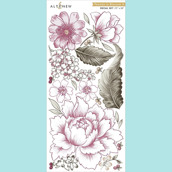 Altenew - Peonies in Blossom A Decal Set