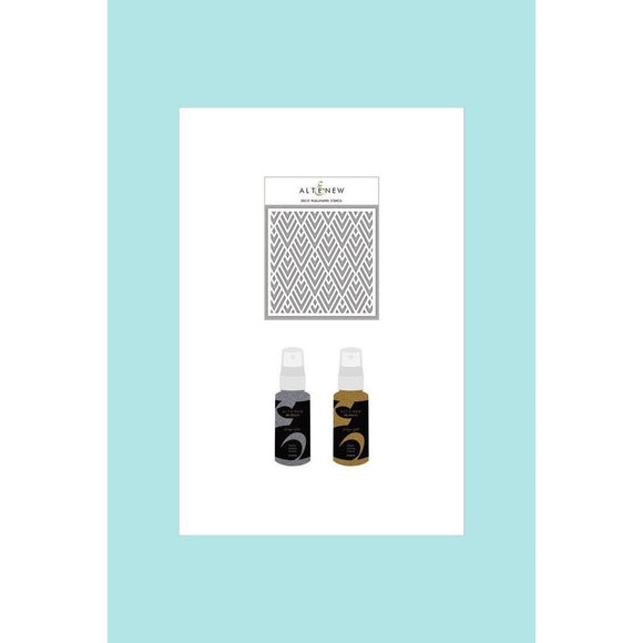 Altenew Deco Wallpaper Stencil & Ink Spray Bundle