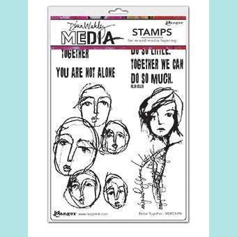 Dina Wakley - Media Cling Mount Stamps - Better Together