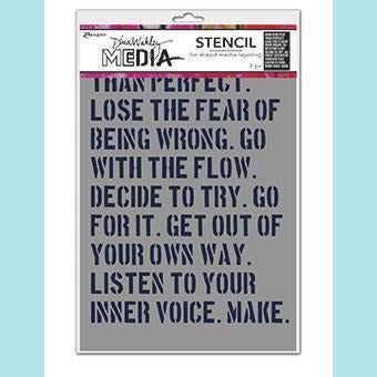 Dina Wakley - Media Stencil - Done Is Better