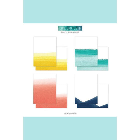 Concord & 9th Dip-Dyed Cards & Envelopes