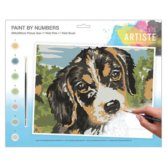 DoCrafts Artiste - Large Painting By Numbers - Dog