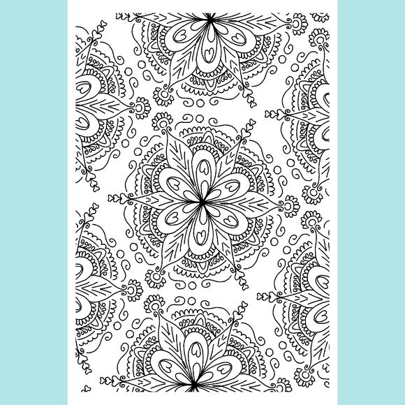 Joy Clair Doodle Flower Background Stamp Set