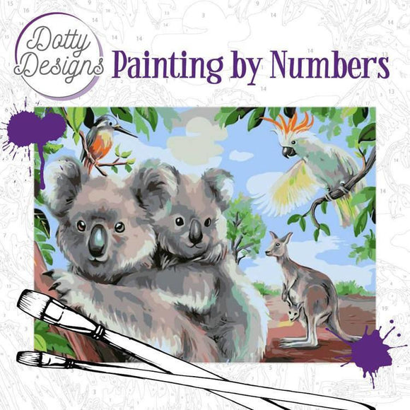 Dotty Designs Painting by Numbers - Wild Animals Outback