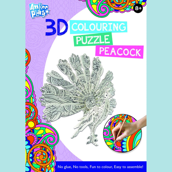 Anker Play - 3D Colouring Puzzle - Peacock