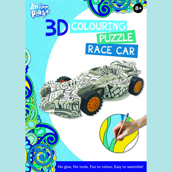Anker Play - 3D Colouring Puzzle - Race Car