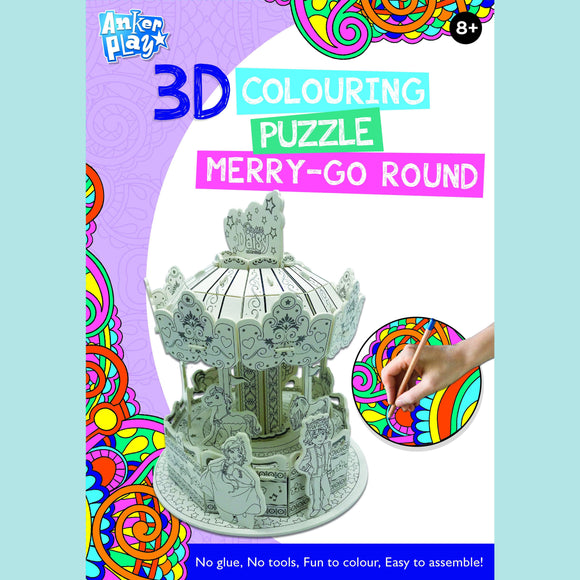 Anker Play - 3D Colouring Puzzle - Merry-Go Round