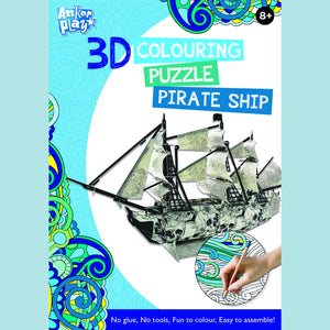 Anker Play - 3D Colouring Puzzle - Pirate Ship