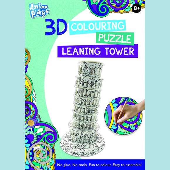Anker Play - 3D Colouring Puzzle - Leaning Tower