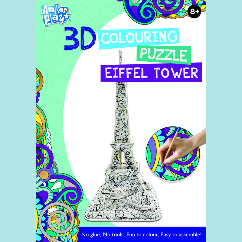 Anker Play - 3D Colouring Puzzle - Eiffel Tower