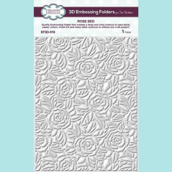 Creative Expressions - 3D Embossing Folder - Rose Bed