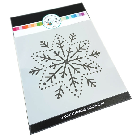 Catherine Pooler - Embroidered Snowflake Stencil