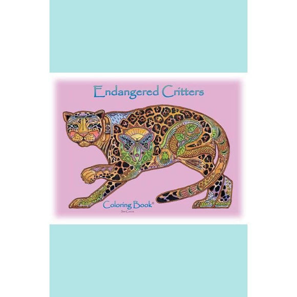 Earth Art International Sue Coccia - Endangered Critters Coloring Book