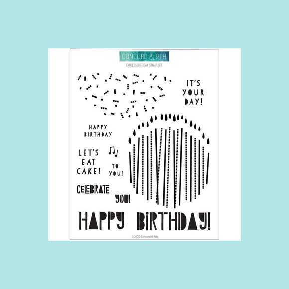 Concord & 9th - Endless Birthday Stamps and Dies