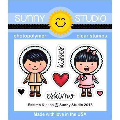 Sunny Studio Stamps - Eskimo Kisses Stamp and Die