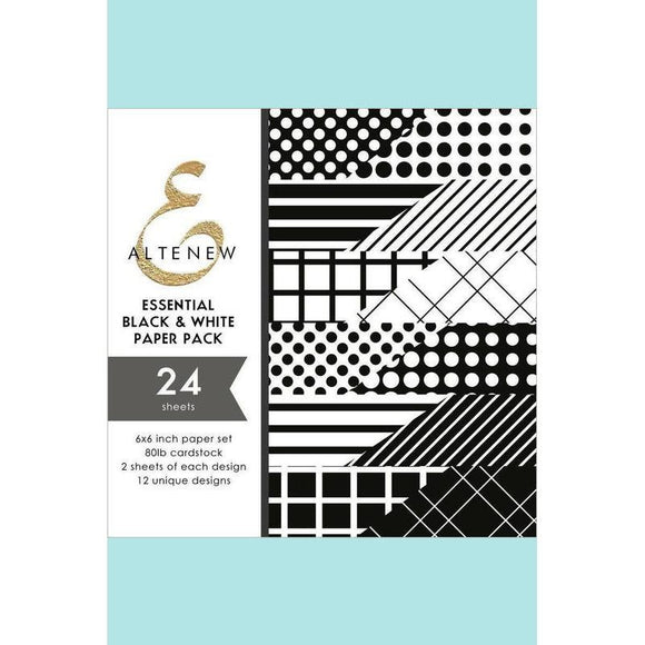 Altenew - Essential Black & White 6x6 Paper Pack