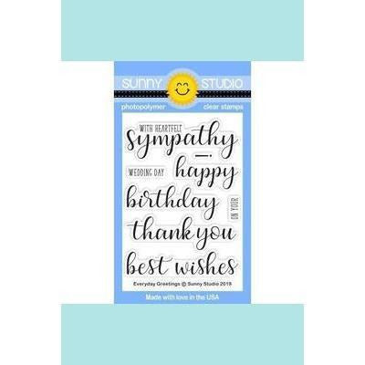 Sunny Studio Stamps - Everyday Greetings Stamps