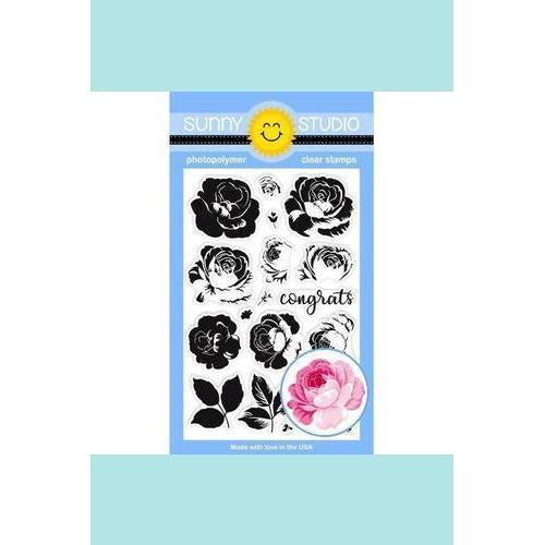 Sunny Studio Stamps - Everything's Rosy Stamp and Die