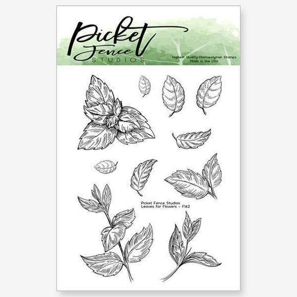 Picket Fence Studios - 6 Leaves for Flowers Stamp