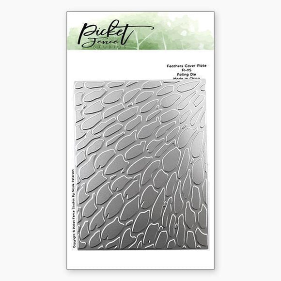 Picket Fence Studios - Feathers Cover Plate Foiled Impressions
