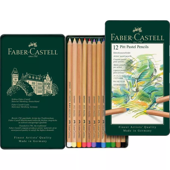 Faber-Castell - Pitt Pastel Pencil TIN OF 12