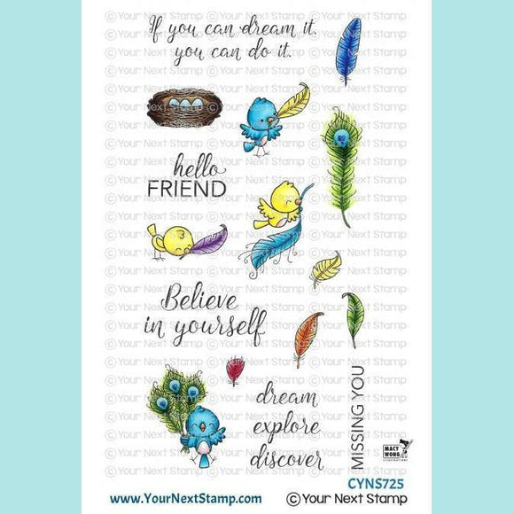 Your Next Stamp - YNS - Fabulous Feathers Stamps and Dies